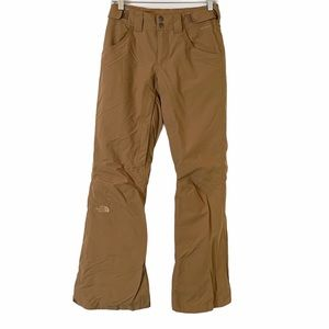 North Face Insulated Freedom Tan Snow Ski Pants XS